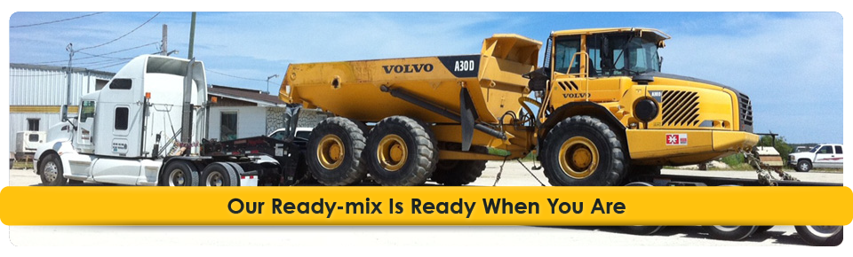Our Ready-mix Is Ready When You Are | hauling equipment